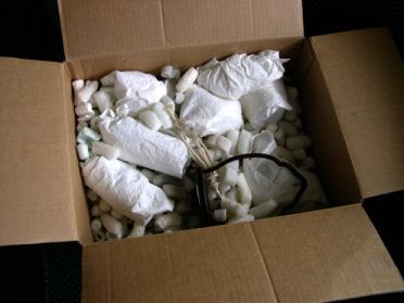 A filled packing box