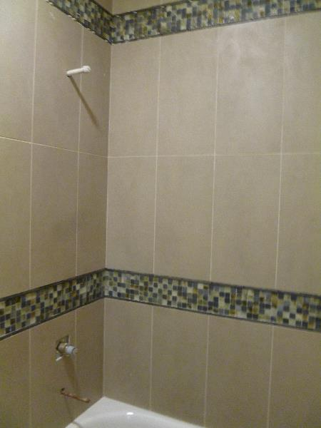 Guest bath shower tile