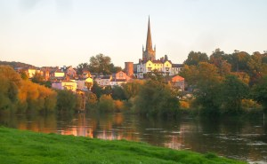 Ross-on-Wye from the river