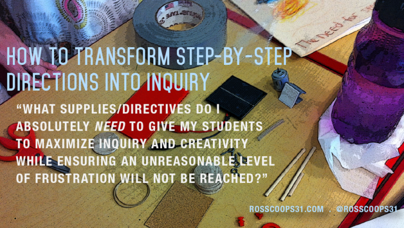 How to Transform Step-by-Step Directions into Inquiry