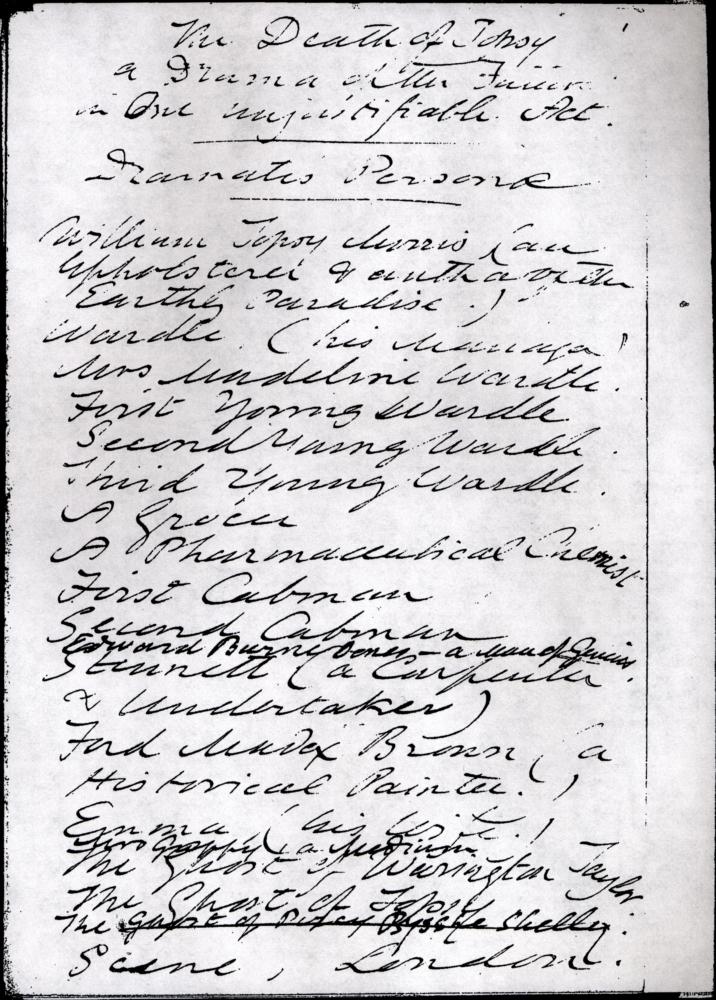 The Death of Topsy draft manuscript
