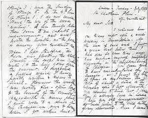 Letter to William Bell Scott, July 1853, manuscript