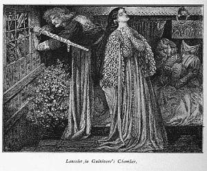 Sir Launcelot in the Queen's Chamber.