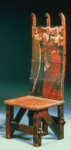 The Arming of the Knight design for the back of an armchair