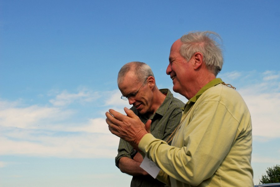 Steven Kellogg and Bill McKibben at Champlain Area Trails event in Essex, NY.