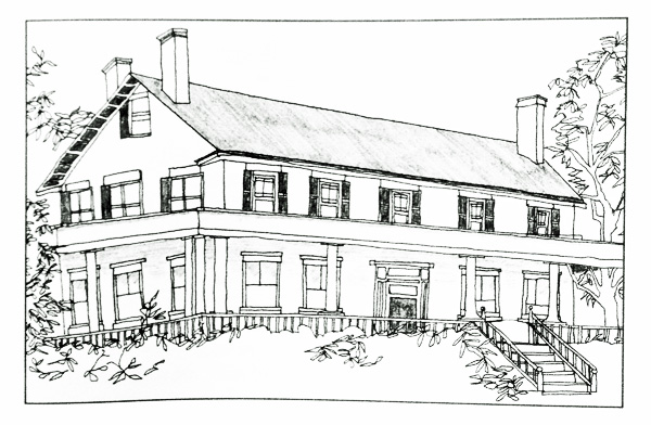 Hyde Gate, Essex, New York (Illustration by Kate Boesser for All My Houses, By Sally Lesh)