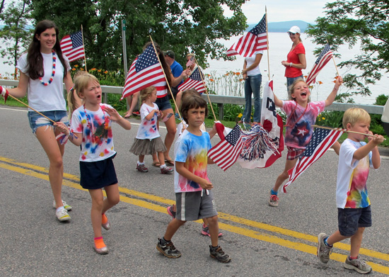 Tie Dyed Crater Clubbers, 4th of July parade, Essex, NY 2013