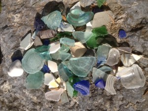 Sea glass (lake glass?) from Rosslyn's Lake Champlain waterfront.