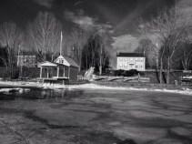 Rosslyn boathouse by Bill Amadon, March 13, 2015