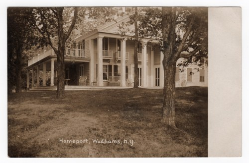 Homeport in Wadhams, NY was the summer home of the late Albion V. Wadhams.