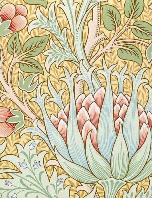 William Morris & Co., Wallpaper Sample Book 1, Artichoke, pattern #359, ca. 1915 (Source: theparisreview.org)
