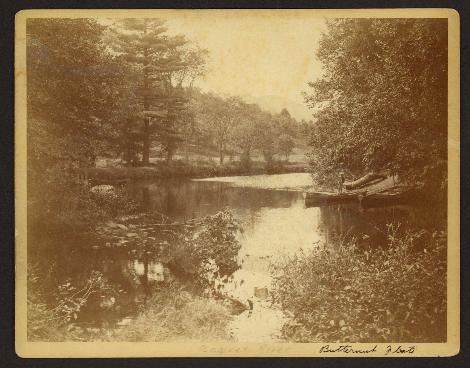 Butternut Flats on the Boquet River (Source: vintage postcard)