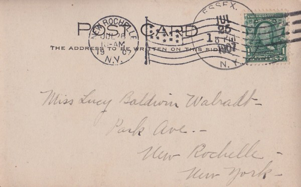 Back of Rosslyn Boathouse Postcard