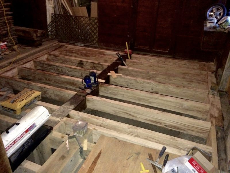 Carriage Barn Renovation: During the winter of 2013-4 we undertook the long overdue project of rebuilding the carriage barn floors, stalls, walls, etc. (Source: Rosslyn Redux)