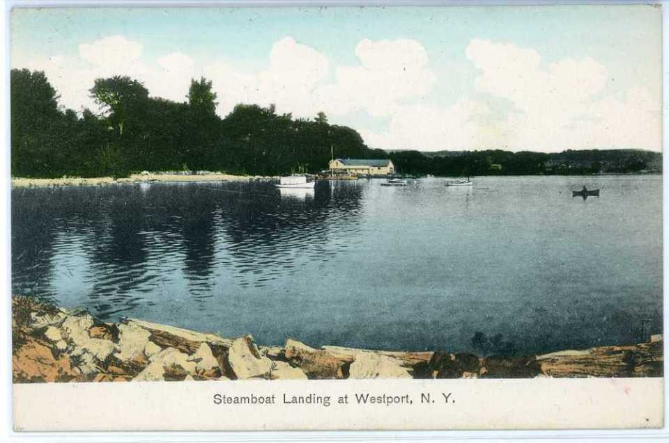 Steamboat Landing at Westport, NY circa 1907 (Source: vintage postcard)