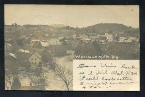 Wadhams Mills Flood, circa 1900 (Source: Vintage Postcard)