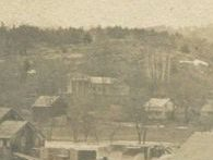 Homeport detail from postcard of Wadhams Mills Flood, circa 1900 (Source: Vintage Postcard)