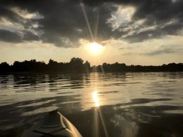 Sunset on Old Hickory Lake.
