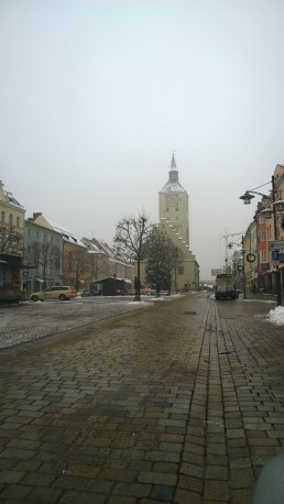 Der Luitpoldplatz in Deggendorf nach der Silvesternacht