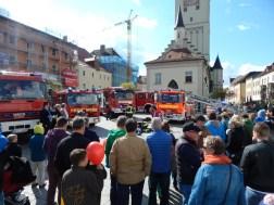 Freiwillige Feuerwehr Deggendorf - Übung am Stadtplatz