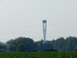 Der Brückenpfeiler der Deggenauer A3-Autobahnbrücke