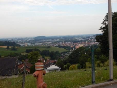 Blick von Simmling in die Innenstadt
