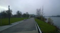 Die Donaupromenade beim Ruderhaus