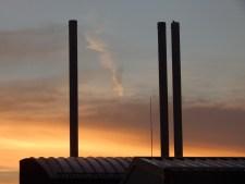 Sonnenaufgang über dem Schulzentrum