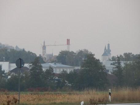 Die Deggendorfer Türme von Kandelbach aus