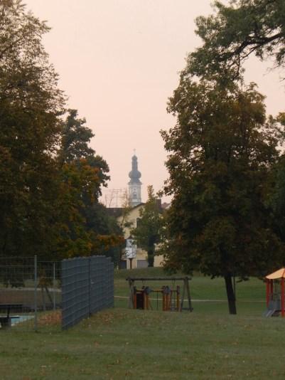 Die Grabkirche vom Stadtpark aus