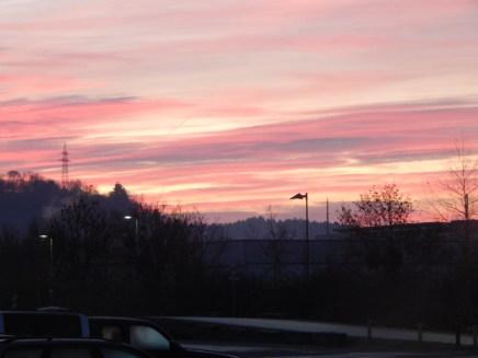 Morgenrot über Deggendorf