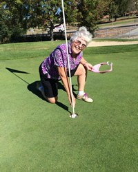 Sue Fleck sunk her third hole-in-one!