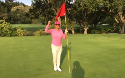 Yuko Tsang sinks her first hole-in-one