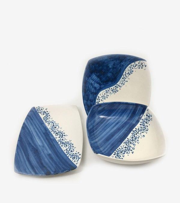 RARDTV15 set piatti portata ceramica vietri mare avossa rossoaltramonto