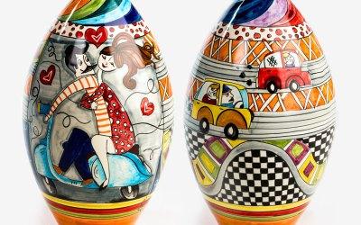 RGIO003 bottiglia ceramica vietri 50 special avossa rossoaltramonto