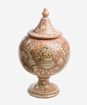 RVSORN002 vaso ampolla ceramica vietri romantica avossa rossoaltramonto