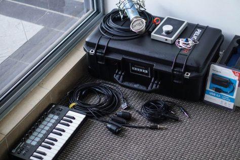 Travel music recording studio