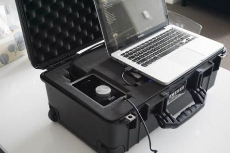Portable music recording studio