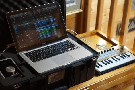 Portable music recording studio
