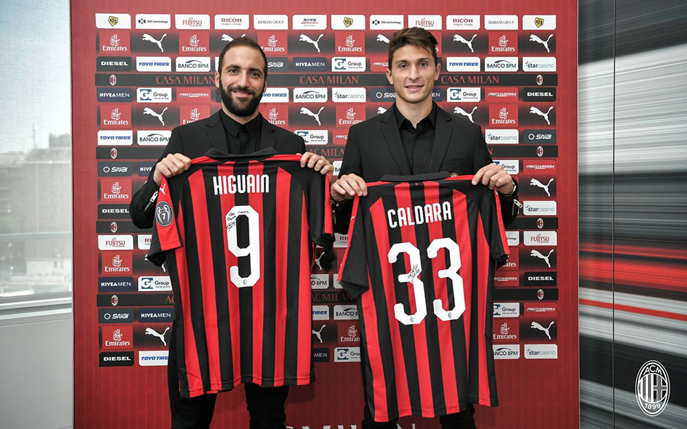 Gattuso Im happy for the arrivals of Higuain and