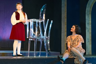 L to R Charlotte Curtin as Scottie Fitzgerald, Emily Dwyer as Zelda Fitzgerald
