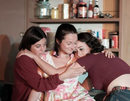 L-R, Jensen Power as Lenny Magrath; Margaret Grace Hee as Babe Botrelle; Chandler Parrott-Thomas as Meg Magrath