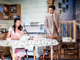 L-R, Margaret Grace Hee as Babe Botrelle; Jeremy Judge as Barnette Lloyd