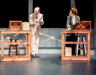 Peter Warden as Peter Shaw, Rachel Kahan as Annie Cannon