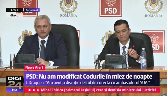 Liviu Dragnea si Sorin Grindeanu, scaunele de la PSD