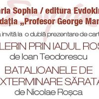 Marți, 28 martie, dublă lansare de carte la librăria Sophia