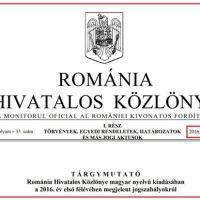 Cea mai costisitoare publicație din lume: Monitorul Oficial al României în limba maghiară, la 1754 euro cheltuieli pe exemplar