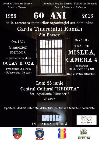 """60 de ani de la arestarea membrilor """"Gărzii Tineretului Român"""""""