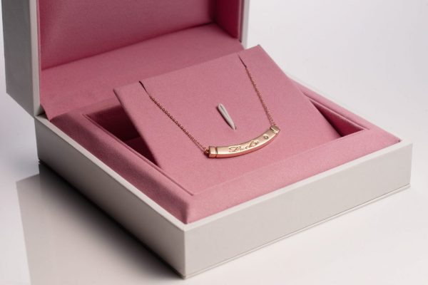 TogetherBand Necklace - 18K Rose Gold with Diamond