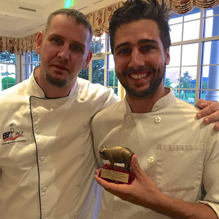 Chef Luis Pereira is the new Pork King!